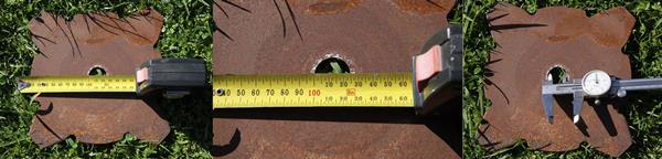 Measuring Bore diameter of an existing old blade