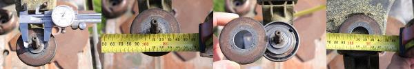 Measure shaft diameter of your brushcutter