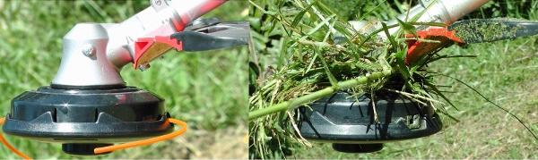 Echo SRM420TESU - Poor design of gear head causing grass to tangle arounf gear head (600x179)