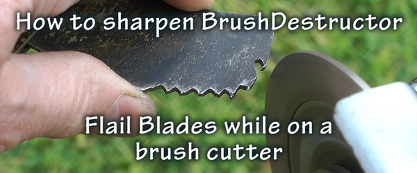 How to sharpen brushdestructor blades