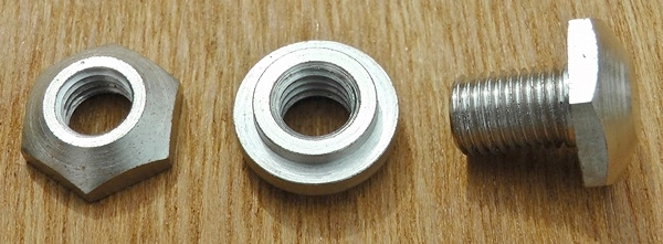 Sample hardened bush and fasteners