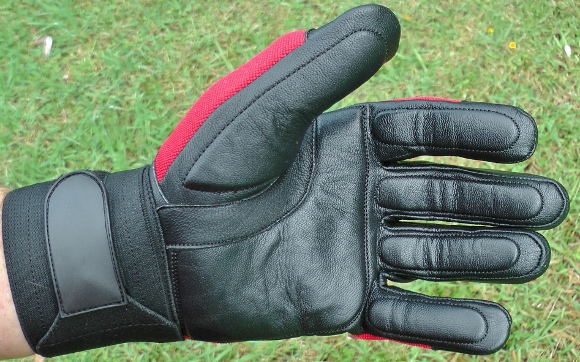 BrushDestructor Anti-Vibration Gloves with silicone gel to palms, fingers and thumb