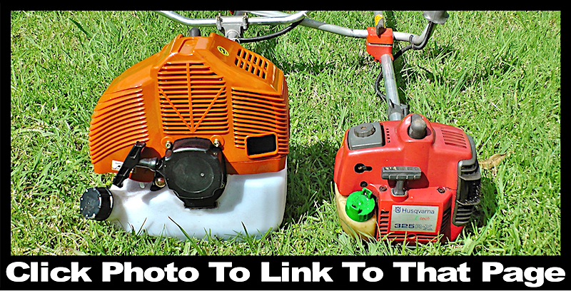 Sizes of weed whacker / brush cutter engines
