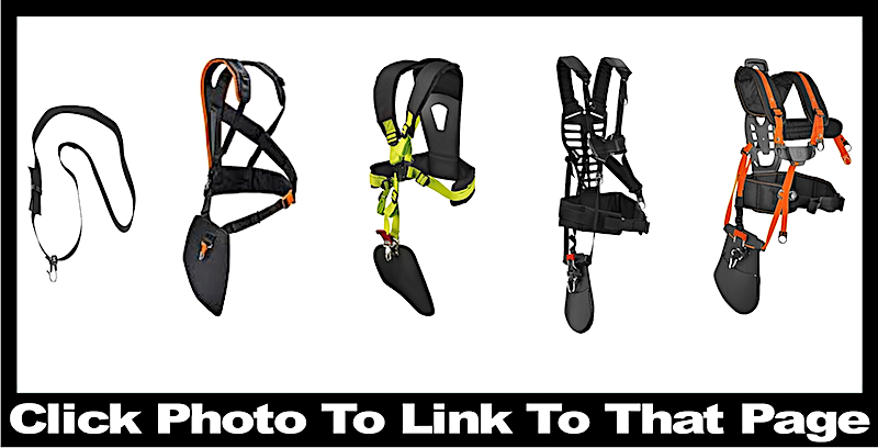 Types of brush cutter / weed whacker harness