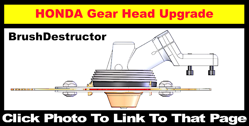 BrushDestructor anti-fouling upgrade for the Honda brush cutter gear head