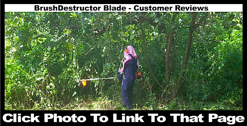 This photo links you to a page with reviews from satisfied BrushDestructor blade customers