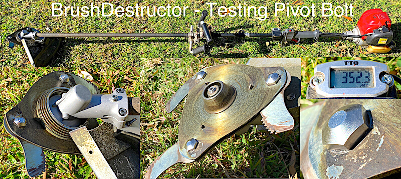 This photo shows the testing of pivot bolts to see if they fail from over torquing.